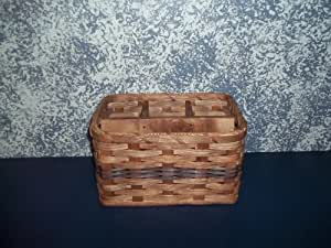 Amish Hand Woven Napkin and Silverware Basket. Pair This with the Lazy Susan Basket and Send Your Country Kitchen Decor up a Notch! Think of This Handmade Basket Filled with Silverware and Given As a Gift Basket At a Bridal Shower or Housewarming Party--bet It Wouldn't Be a Repeat. Colors May Vary (Brown, Black, Red, Green, Blue, Purple, Burgundy, Natural)