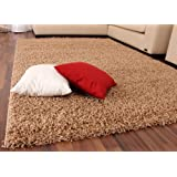 Shaggy Rug High Pile Long Pile Modern Carpet Uni Beige, Size:190x280 cm