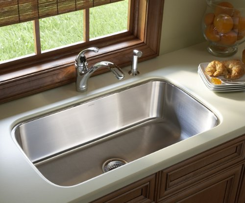 Sterling 11600-NA 32-Inch McAllister Undercounter Single Basin Kitchen Sink