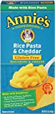 Annie&#039;s Homegrown Gluten-Free Rice Pasta &amp; Cheddar Mac &amp; Cheese, 6-Ounce Boxes (Pack of 12)