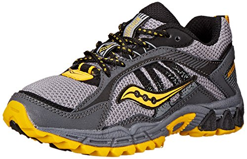 Saucony Excursion Sneaker (Little Kid/Big Kid),Grey/Black/Yellow,11 M US Little Kid