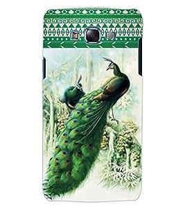 ColourCraft Beautiful Peacocks Design Back Case Cover for SAMSUNG GALAXY J5