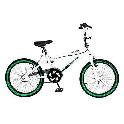 "Muddyfox Tail Whip 11"" Frame Bmx - White/green (20"" Wheel)"