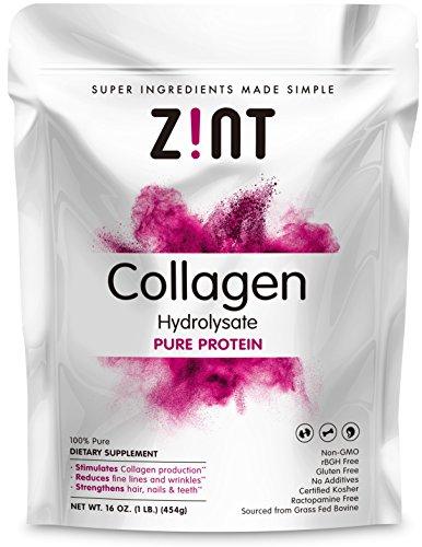 Collagen Hydrolysate Protein Powder (1 Lb.) - Hydrolyzed Kosher Beef Collagen Peptides - Pasture-Raised - Organic Non-GMO Certified (Collagen Organic compare prices)
