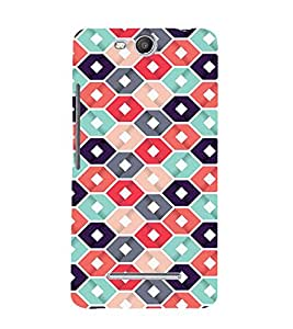 Abstract Hexagonal Design 3D Hard Polycarbonate Designer Back Case Cover for MicromaxBoltQ338