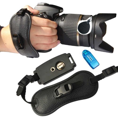 First2Savvv Osh0402 Professional Wrist Grip Black Artificial Leather Hand Strap For Canon Eos 70D