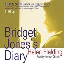 Bridget Jones's Diary (       UNABRIDGED) by Helen Fielding Narrated by Imogen Church