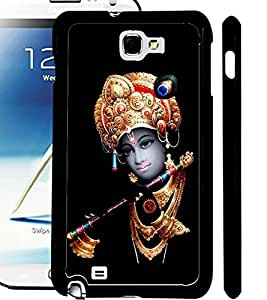 ColourCraft Lord Krishna Design Back Case Cover for SAMSUNG GALAXY NOTE 2 N7100