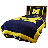 Michigan Reversible Comforter Set - - Michigan Wolverines
