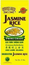 Golden Star Jasmine Rice prime grade orginated from Thailand 25-lb bag