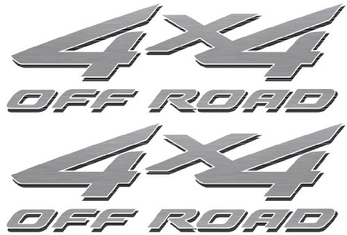 4x4 Off Road Decals (Silver) - 2002 to 2008 Ford