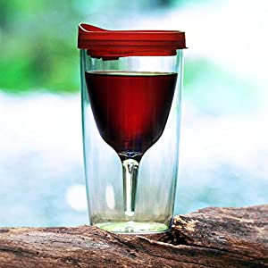 Vino2go portable wine glass acrylic travel wine sippy cup - Amazon porta vino ...