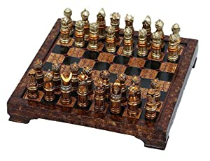 Amazon.com - Unique Medieval Chess Set With Game Board