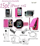 Tsirtech 15 in 1 Accessory Bundle Kit for iPod Touch 5G 5th Gen Premium
