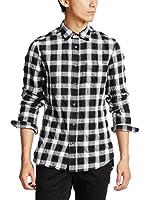 Diesel Camisa Hombre S-Anobu (Negro / Blanco)