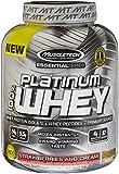 MuscleTech Platinum 100% Whey Supplement, Strawberries and Cream, 5 Pound