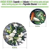 Kitchen Deluxe Stainless Steel Vegetable Steamer Basket Complete Bundle with 2 in 1 Julienne Veggie Peeler Slicer and Recipe eBook