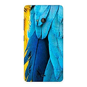 Special Blue Feathur Back Case Cover for Lumia 540