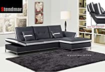 Remarkable Sale Modern Gray White Bonded Leather Sectional Sofa Set Machost Co Dining Chair Design Ideas Machostcouk