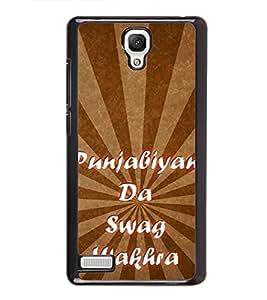 Punjabiyan Da Swag Wakhra 2D Hard Polycarbonate Designer Back Case Cover for Xiaomi Redmi Note :: Xiaomi Redmi Note 4G