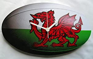 Welsh Rugby Ball Clock - Great Gift! - RU3