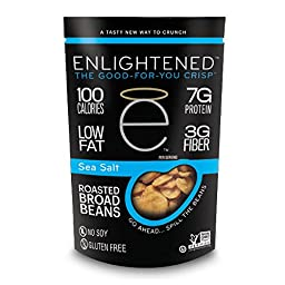 Enlightened - The Good-For-You Crisp, Roasted Broad Beans, Sea Salt, 3.5 Ounce