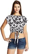 Disney by Genes Women's Animal Print T-Shirt (CHD15-050KTBLO_White_Small)