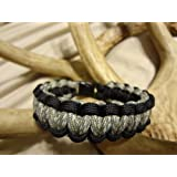 Paracord Survival Bracelet Black Border with Your Choice of Center Color, Choose Your Size, 27 Colors to Choose From By Bostonred2010