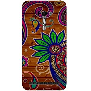 Casotec Pattern Texture Colorful Background Design Hard Back Case Cover for Asus Zenfone Selfie ZD551KL