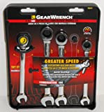 GearWrench 4-Piece Standard Ratcheting Combination Wrench Set, # 58804