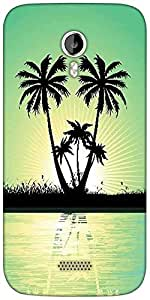 Snoogg abstract tropical background Designer Protective Back Case Cover For Micromax A116