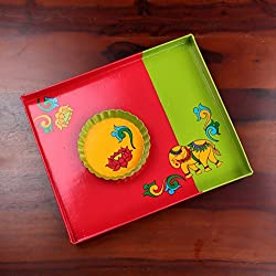 A Krazy Mug: Handpainted Tray - Hatti ki Sawari Tray /// painted tray, tray set , serving tray , trays decorative , kitchen trays