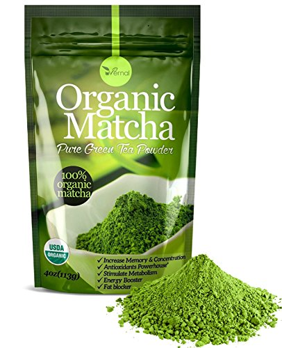 Organic Matcha Green Tea Powder USDA Organic Energy Booster Incredible Taste(4oz) (Matcha Organic Green Tea Powder compare prices)