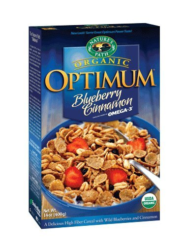Nature's Path Organic Optimum Breakfast Cereal, Blueberry-Cinnamon, 14-Ounce Boxes (Pack of 6)