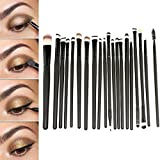GYBest 20pcs Makeup Eye Brushes Cosmetic Set Powder Foundation Eyeshadow Brush, Eye Shadow Brush, Eyeliner Lip...
