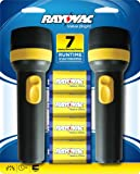 Rayovac Twin Pack Value Bright Flashlight with Batteries, EVB2D2D-BD9B