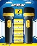 Rayovac Twin Pack Value Bright Flashlight with Batteries, EVB2D2D-BD9B