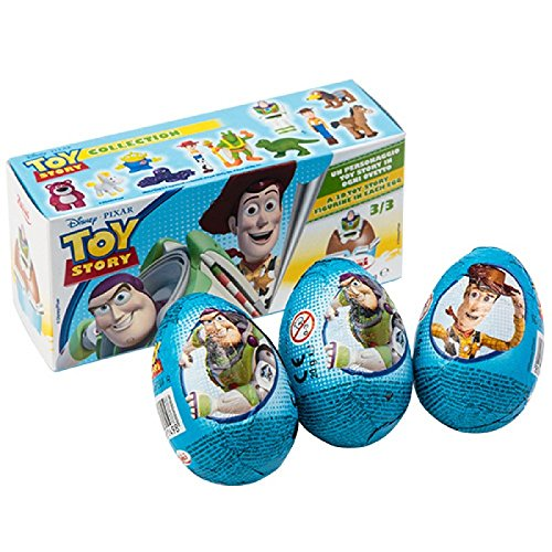 Disney TOY STORY Zaini Milk Chocolate with Surprise Collection 3 Eggs