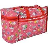 WonderKart Multi Purpose Baby Diaper Mother Bag With 2 Bottle Holders - Keep Baby Bottles Warm (Red)