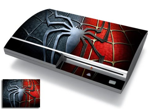 Bundle Monster Vinyl Skins Accessory For Sony Playstation PS3 Game Console - Cover Faceplate Protector Sticker Art Decal - Spiderman