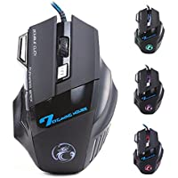 Zoweetek Professional Wired Gaming Mouse X7 Button 5500 DPI LED Optical USB Wired Computer Mouse Mice Cable Mouse...