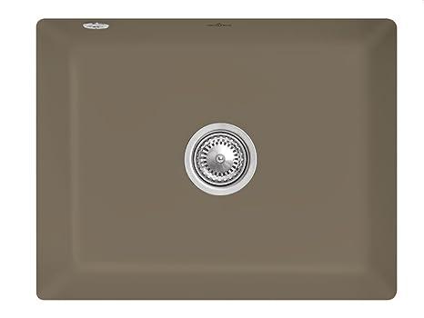 Villeroy & Boch Subway 60SU Timber Brown Ceramic Undermount Kitchen Sink