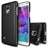 Galaxy Note 4 Case - Ringke SLIM Case [Free HD Film/All Around Protection][SF BLACK] Premium Dual Coated Hard Case Cover for Samsung Galaxy Note 4 (All Carriers - Verizon, AT&T, Sprint, T-Mobile, International, and Unlocked) - ECO Package
