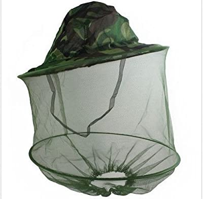 HOT Mosquito Fly Insect Bee Fishing Mask Face Protect Hat Net Camouflage from buytra