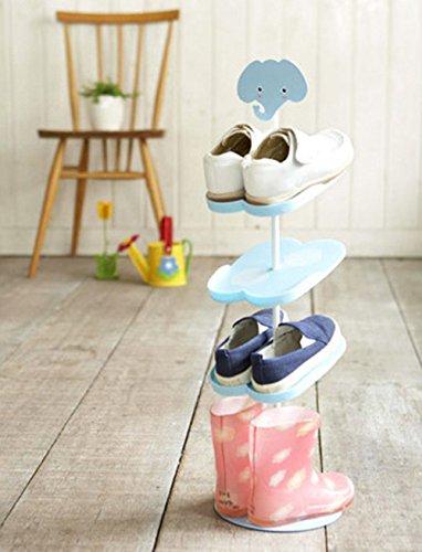 AddfunKids-SchuhregalKreativ-Bodenausfhrung-rotierend-Schuh-Lagerung-Gestell-Dreidimensional-Karikatur-Kinder-s-Mappe-SchuhregalElefant