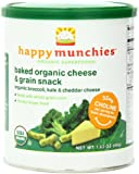 Happy Munchies Organic Cheese & Grain Snacks, Broccoli Kale & Cheddar Cheese, 1.63 oz (Pack of 6)