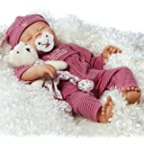 Paradise Galleries Sleeping Baby Doll, Little Princess Baby Doll, 16 inch GentleTouch Vinyl (Artist: Angela Anderson)