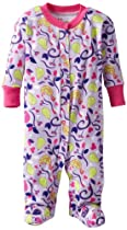 New Jammies Baby-Girls Newborn Organic Footie Pear Tree Love, Purple, 3 Months