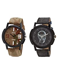 Relish Black Analog Round Casual Wear Watches For Men - B019T7LFOY