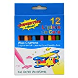 Supertite wax crayons set of 12 assorted colours